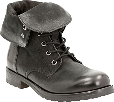 Clarks New Womens Minoa River Boot Black Leather 6