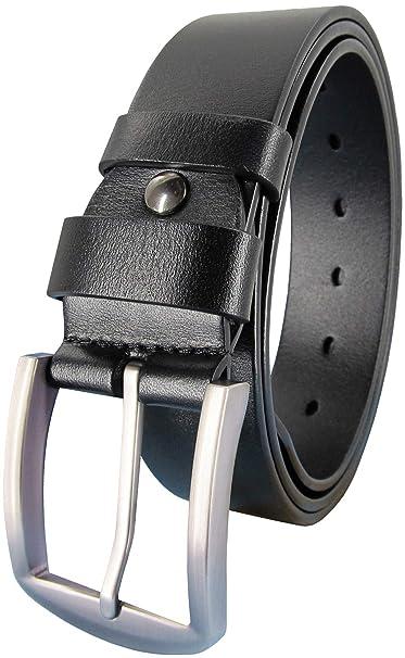 Amazon.com: Ledamon - Cinturón de piel para hombre, 100% de ...