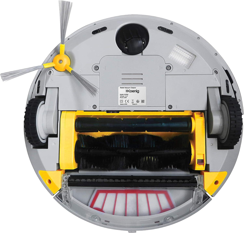 Robot Aspirador de Alto Rendimiento, Especial Mascotas, Todo Tipo De Suelos, Autonomía Hasta 90 Min, Sensor De Obstaculos, Mando A Distancia Incluido, Tecnología Silenciosa 70 dB. H.Koenig_SWR32: Amazon.es: Hogar