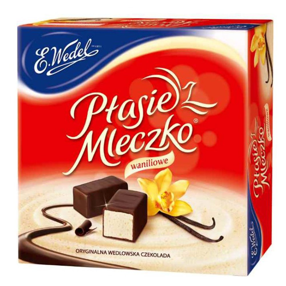 Ptasie Mleczko Chocolate Covered Vanilla Marshmallow 13.4 Oz (Pack of 2) by E.Wedel