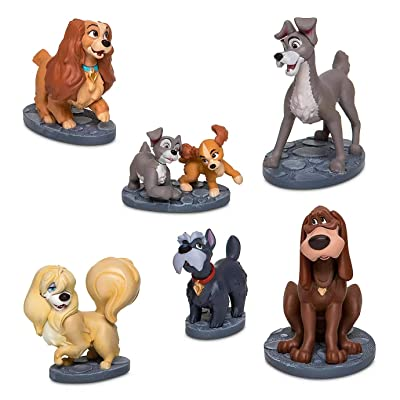 Figurine Disney Lady and The Tramp Figure Play Set of 6 Cake Topper: Toys & Games