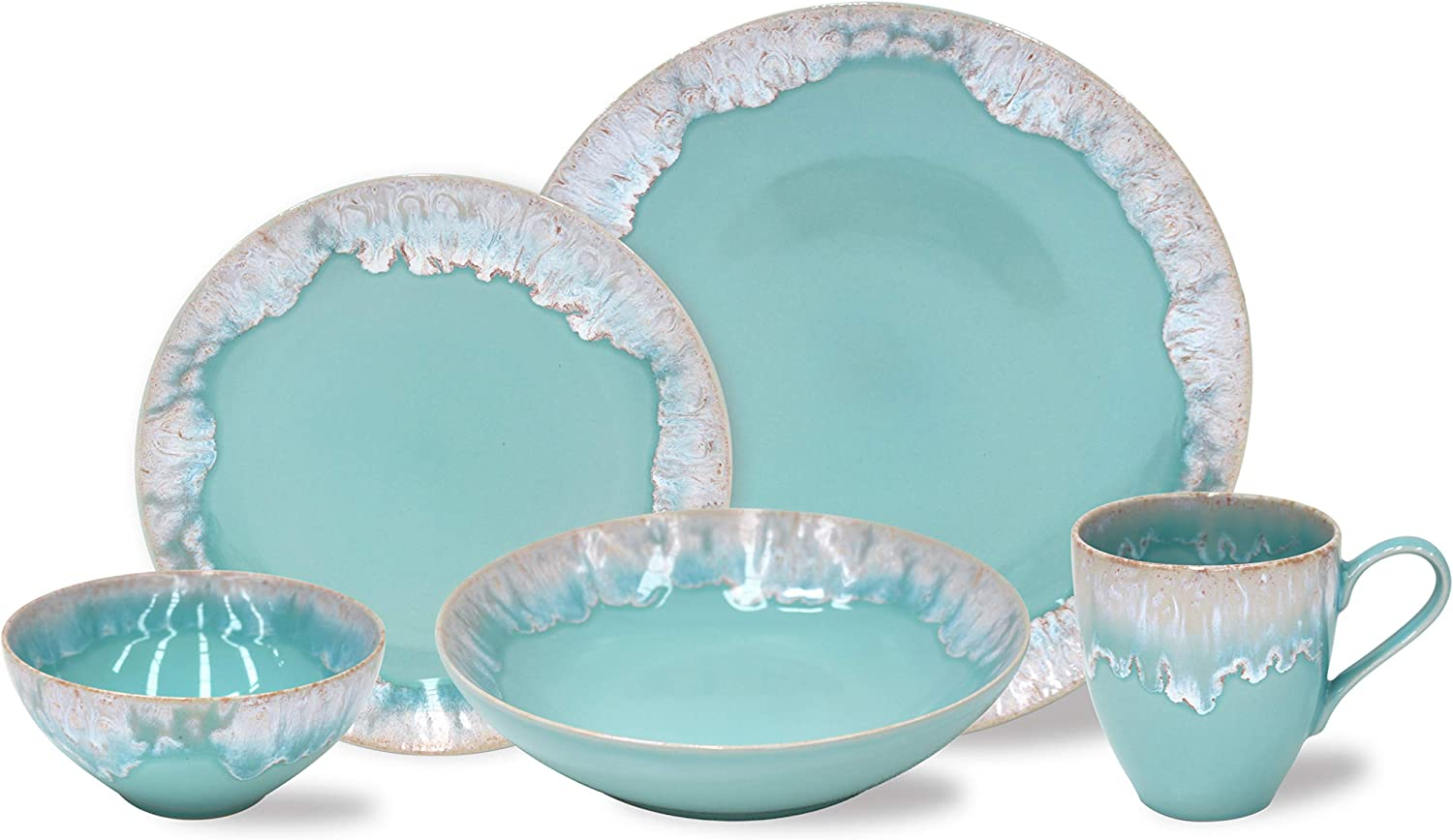 Casafina Taormina Collection Stoneware Ceramic 5-Piece Place Setting