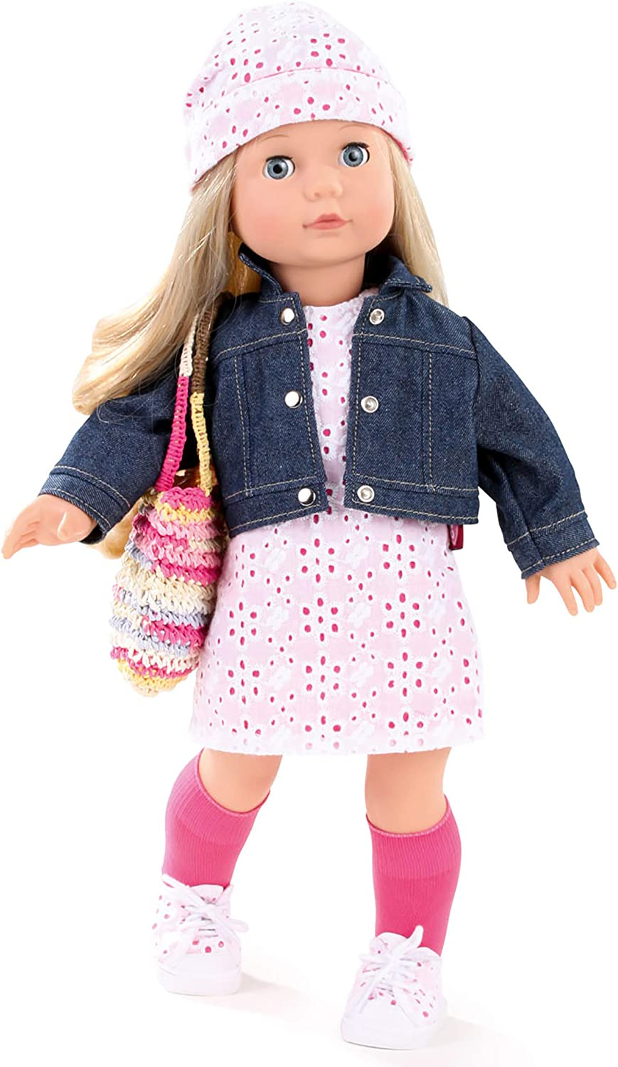 Gotz Precious Day Jessica 18 Soft Body Standing Doll with Long Blonde Hair to Wash /& Style