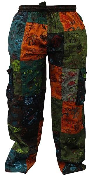 hombre verano Hippy MILITAR Bolsillos Pantalón Militar: Amazon.es: Ropa y accesorios