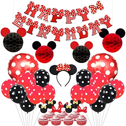 Amazon.com: Mickey y Minnie Party Supplies - Juego de globos ...