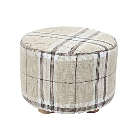 Cool Amazon Com Solid Wood Change Shoes Round Stool Upholstered Pdpeps Interior Chair Design Pdpepsorg