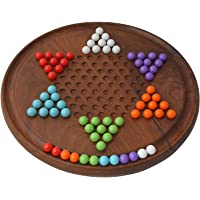 ITOS365 Traditional Round Wooden Chinese Checkers Board Family Game Set …