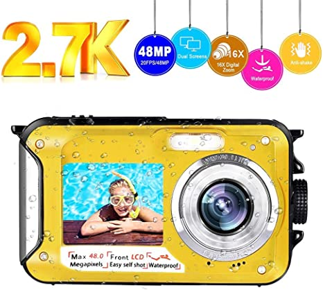 Camara Acuatica Camara Sumergible Full HD 2.7K 48MP Selfie ...