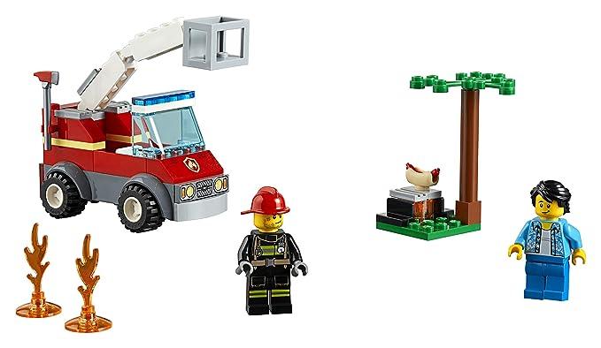 LEGO City Fire - Incendio en la Barbacoa, juguete de construcción de rescate de bomberos (60212): Amazon.es: Juguetes y juegos