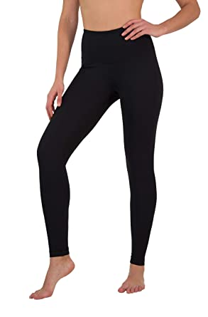 f8bb3f64ff157 Yogalicious High Waist Ultra Soft Lightweight Leggings - High Rise Yoga  Pants - Black - XS