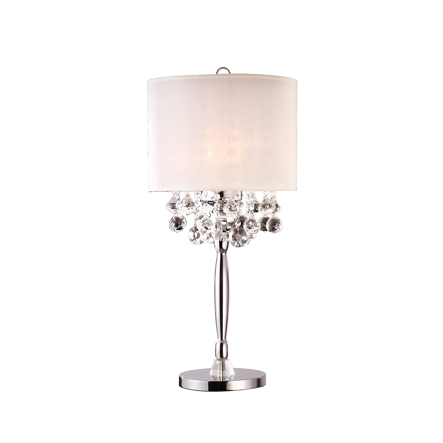 Ok 5110t 30 Inch Crystal Silver Table Lamp Amazon Com