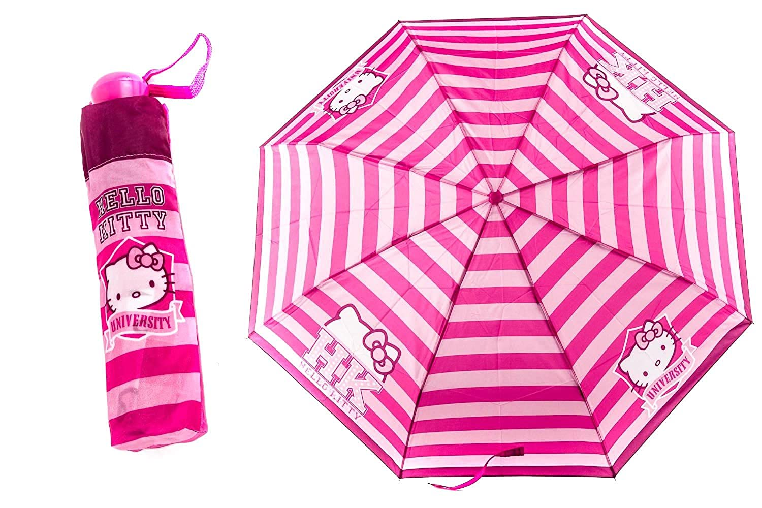 Paraguas niña mini PERLETTI HELLO KITTY fantasía rosa LOGATO manual Q828: Amazon.es: Zapatos y complementos