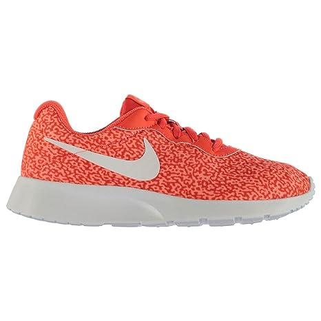 official photos 3f395 b4953 Nike Tanjun impresión Deportes Estilo de Vida Zapatillas para Mujer Rojo/Rojo  Casual Zapatillas Zapatos