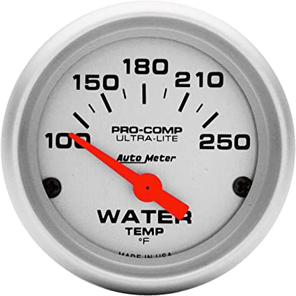 [NRIO_4796]   Amazon.com: Auto Meter 4337 Ultra-Lite Electric Water Temperature Gauge,  Silver: Automotive | Pro Racing Gauge Wiring Diagram Parts |  | Amazon.com