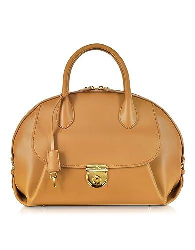 86568423e501 Salvatore Ferragamo Designer Handbags Large Fiamma Sienne Leather Tote Bag