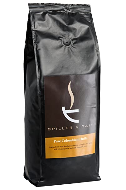 Spiller & Tait Pure Huila – granos de café de Colombia 1 kg Bolsa – Parte