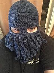 Vbiger Beard Hat Beanie Hat Knit Hat Winter Warm Octopus