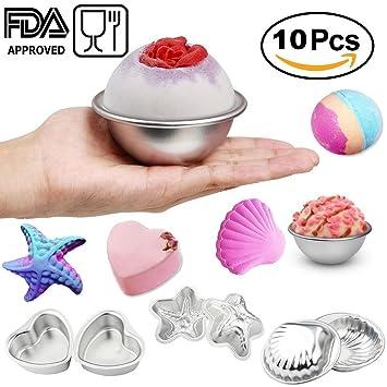 Bomba de Baño molde DIY Metal jabón de baño Bomb Kit 5 Set con 2 Shell ...