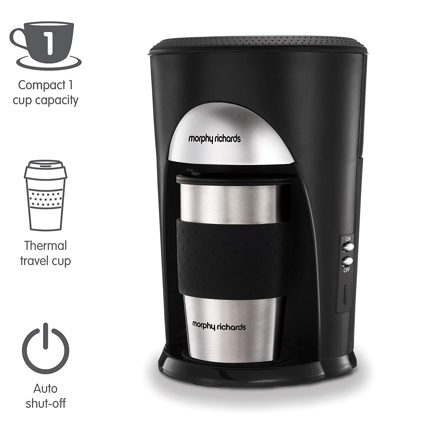 Morphy Richards Coffee On The Go Filter Coffee Machine 162740 Black