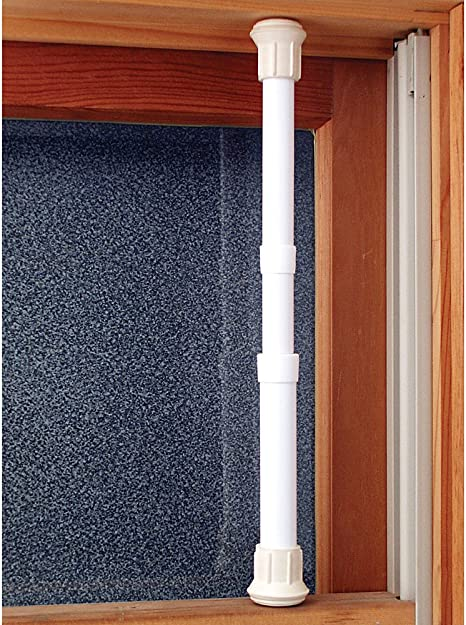 Sturdy Steel adj 17-29 in Johnson Smith Co. Window Security Bar Locks Onto Frame Set of 4