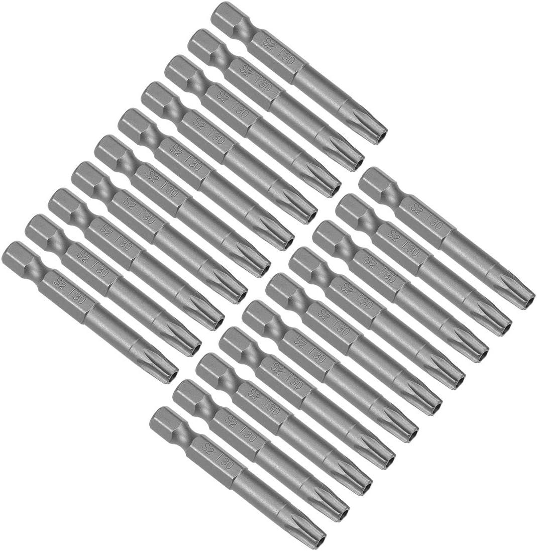 20 puntas de destornillador Torx magnético T30 hexagonal
