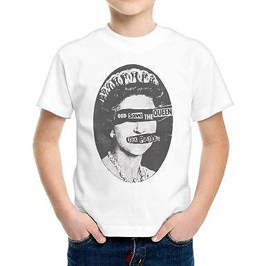 T Shirt Enfant Garcon Sexpistol Groupe Music God Save The Queen