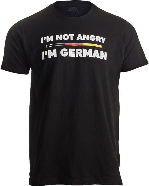 Amazon.com: I m Not Angry, I m alemán   Divertido bandera ...