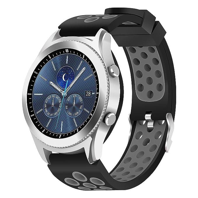 Samsung Gear S3 Frontier/Classic Correa de reloj, 22 mm de ...