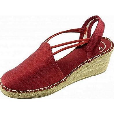601ff6904be TONI PONS Turia Espadrilles Bout Fermés avec Talon Compensé Chaussures  Femme Petite Pointure Tailles Marque Soie