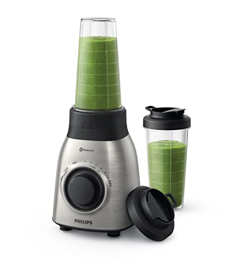 Philips Viva Collection HR3551/00 - Licuadora (0,6 L, Batidora de vaso, Negro, Metálico, China, Acero inoxidable, SAN)