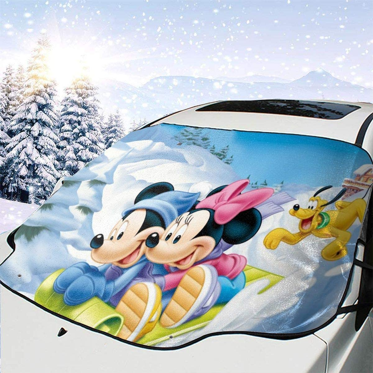 Ice Removal Sun Shade for Winter Protection Prevent Scratches Waterproof Drew Tours Minnie Mouse Multifunction Car Windshield Snow Cover,Car Sunshade