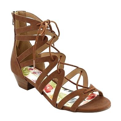 6628019e640 Classified Dress Sandal Chunky Heel Over Toe   Ankle Wrap Tie Front Strap  Warner