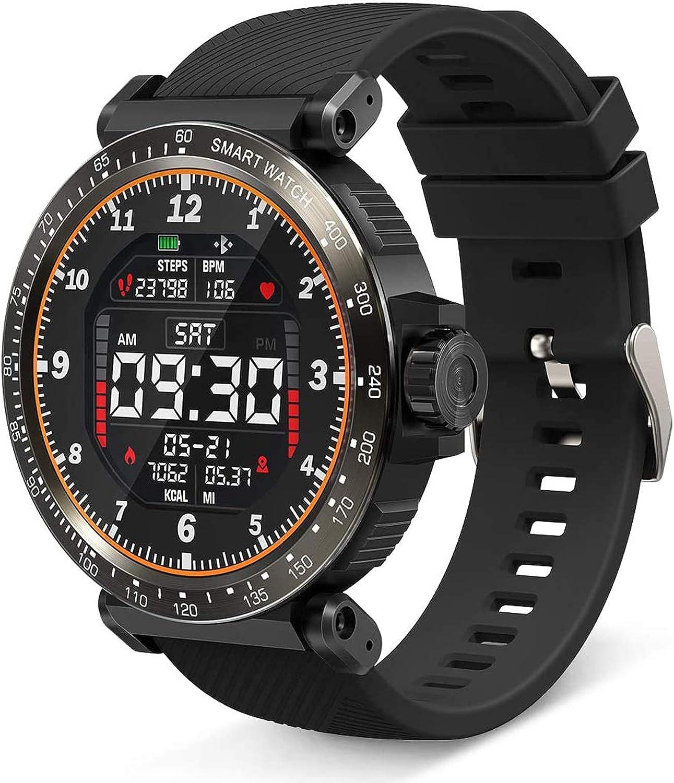 JXILY Smart Watch, 1.3 Pulgadas HD Full Touch Screen Sport Smartwatch Ip68 Rastreador de Ejercicios A Prueba de Agua con PodóMetro, Monitor de Frecuencia CardíAca, Monitor de SueñO