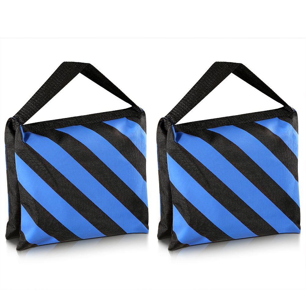 Neewer® Set of Two Black/Blue Heavy Duty Sand Bag Photography Studio Video Stage Film Sandbag Saddlebag for Light Stands Boom Arms Tripods 90080997