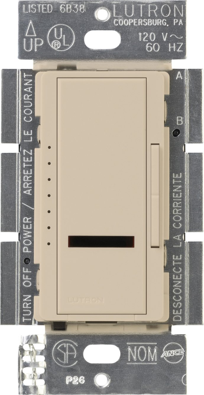 Lutron Lutron MIRELV-600-TP Maestro IR 600-Watt Single Pole Electronic Low-Voltage Dimmer, Taupe by Lutron