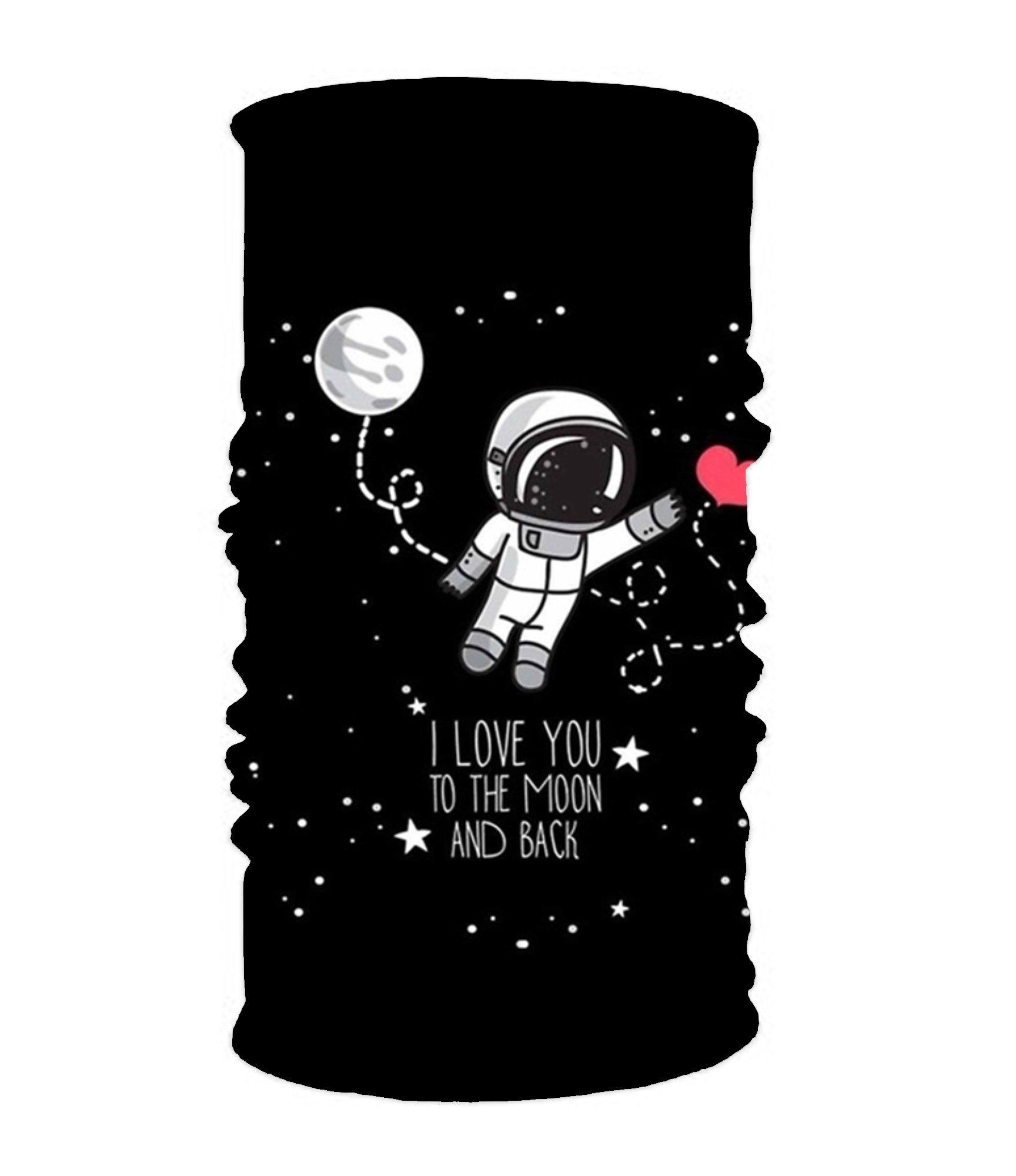 I Love You In The Moon 16-in-1 Magic Scarf,Face Mask,Thin Ski Mask,Balaclava Bandana