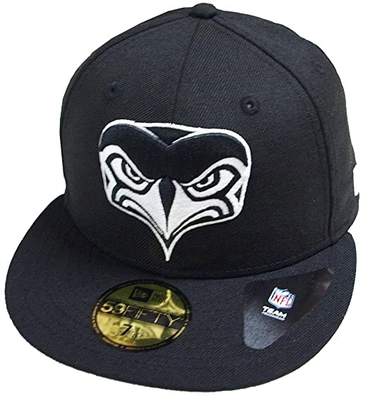 huge selection of 5b689 9c206 ... heather gray e46a8 cb095  netherlands new era seattle seahawks  alternative logo black white nfl cap 59fifty 5950 fitted basecap kappe