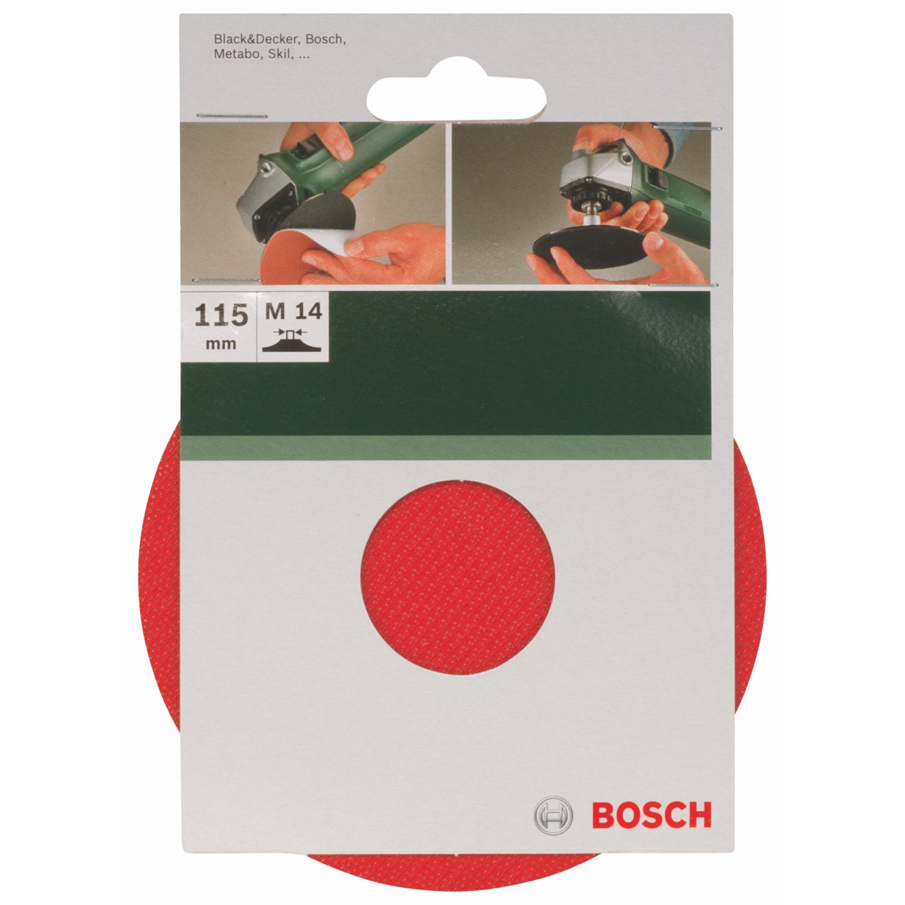 Bosch 2609256272 125 mm Rubber Sanding Plate for Angle Grinder with Velcro-Type Fastening System