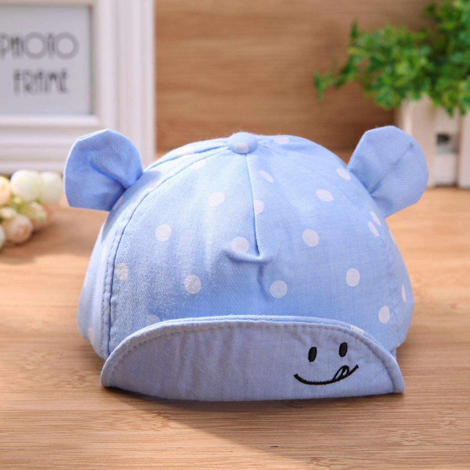 Dot Baby Caps New Girl Boys Cap Summer Hats for Boy Infant Sun Hat with Ear 2019 Sunscreen Baby Girl Hat