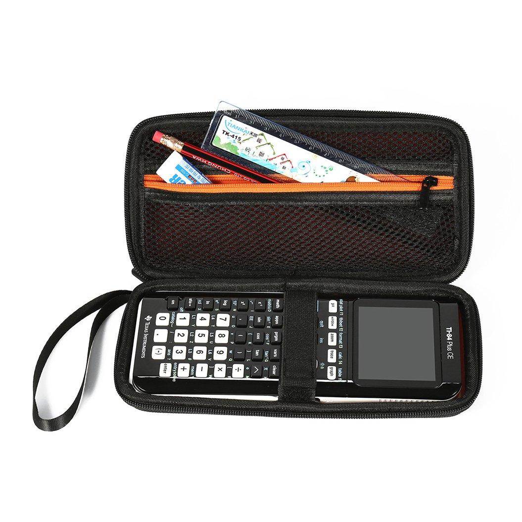 Faylapa caso calcolatrice grafica calcolatrice grafica, valigetta rigida protettiva della scatola inclusa tasca in rete per ti-83Plus TI-84Plus CE TI-84Plus ti-89Titanium HP50G e più wuqishuma