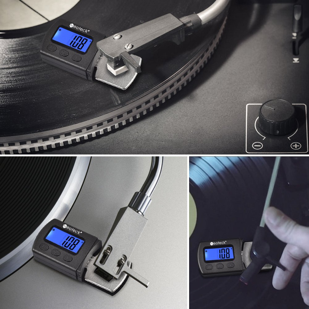 Digital Turntable Stylus Force Scale Gauge 0.01g Blue LCD Backlight,Tracking For