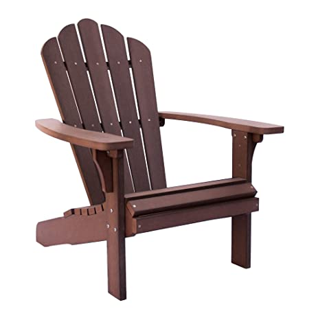 Shine Company 7615CB West Palm Plastic Adirondack Chair, Chateau Brown