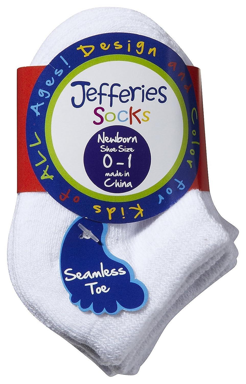 White Jefferies Unisex Child Seamless Sport Low Cut Half Cushion 3 Pk Toddler