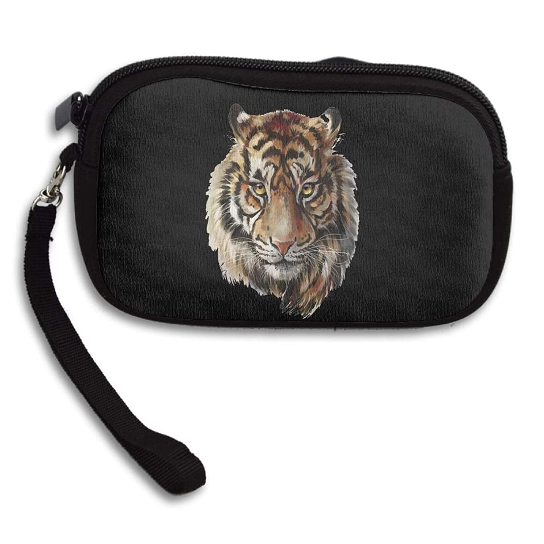 Coin Handbag Zip Mini Wallet Alter Cash Bag for Males /& Women Simple Design Tiger Head