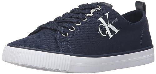 Calvin Klein Jeans Dora Canvas, Zapatillas para Mujer, Azul (Nvy 000), 41 EU: Amazon.es: Zapatos y complementos