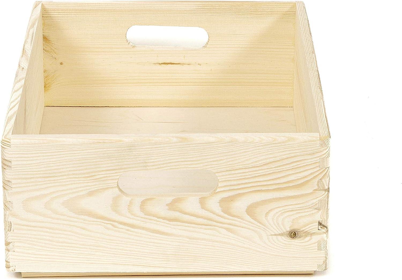 Color Beige Compactor Pino Natural, Personalizable Caja de Madera