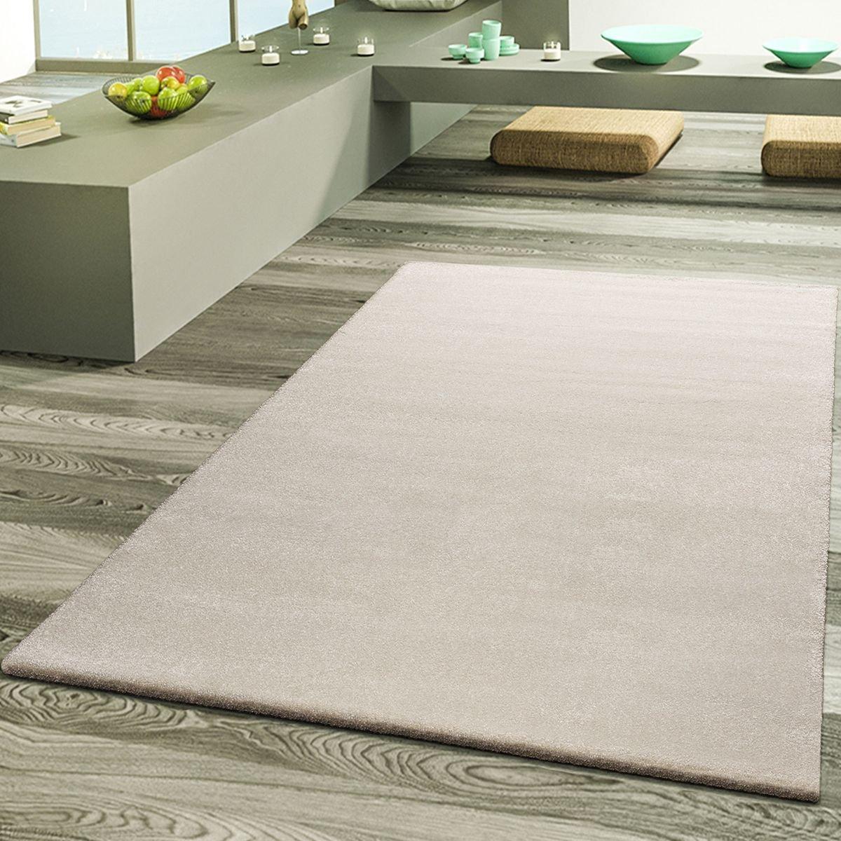 T&T design tappeto da salotto, tappeti di designer di alta qualità , effetto Frieze in crema, Polipropilene, crema, 10 x 10 cm tappeti di designer di alta qualità