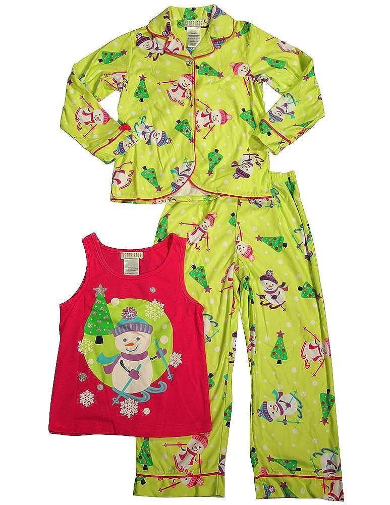 Komar Kids Little Girls 3 Piece Long Sleeve Pajamas