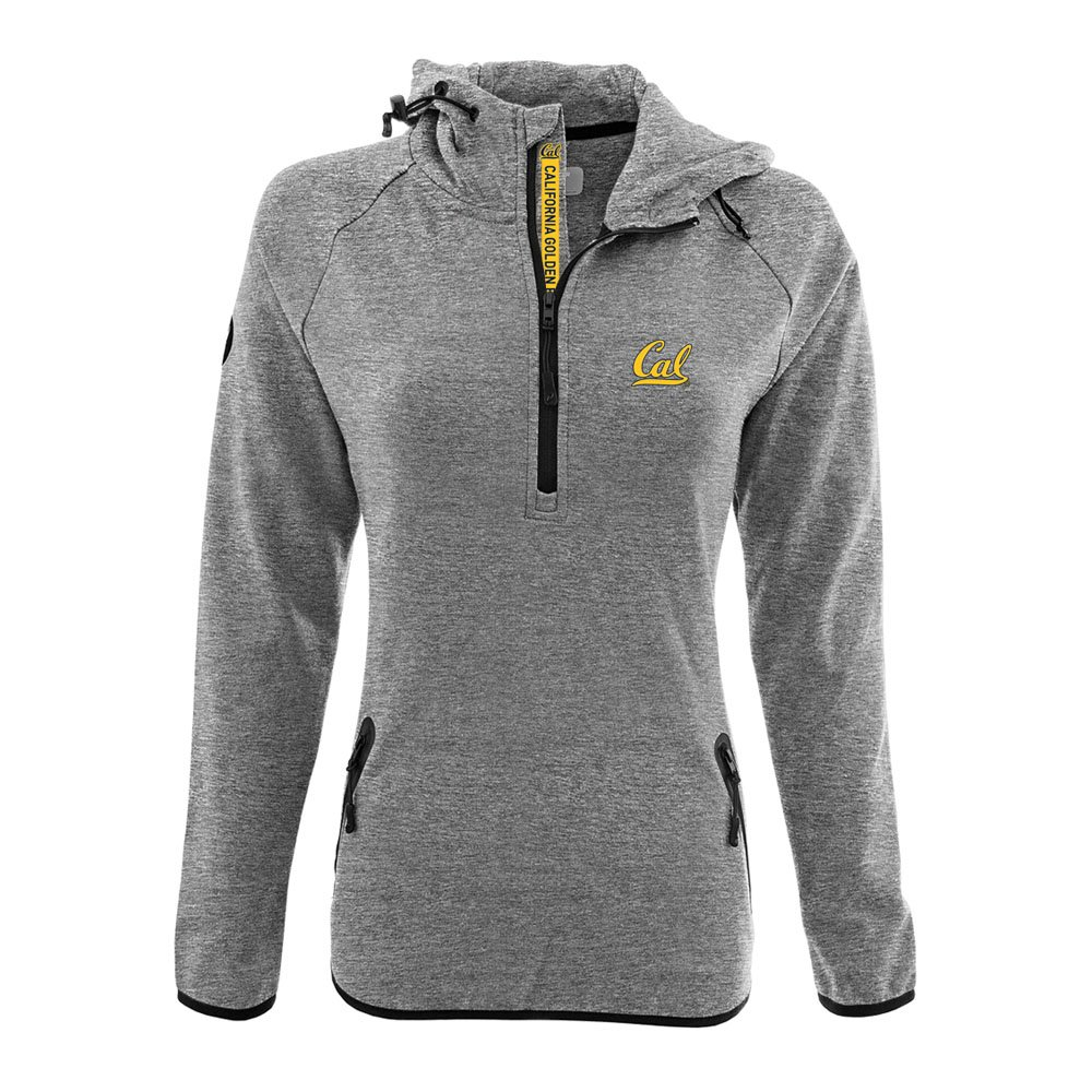 NCAA Women 's Faint Insignia太字Quarter Zipミッドレイヤーシャツ B074QTY4WM Small|Heather Pebble|California Golden Bears Heather Pebble Small
