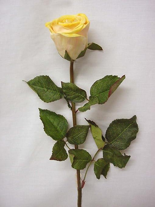 01028-34212 artificial flor individual hojas rosa amarilla